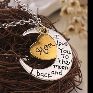 Jewelry - MOM Moon and Heart Necklace